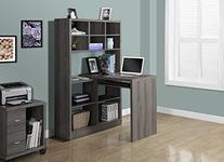 Monarch Specialties Computer Desk - 60H / Dark Taupe / Left