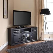 """Crosley Corner TV Stand, 60"""", Black"""