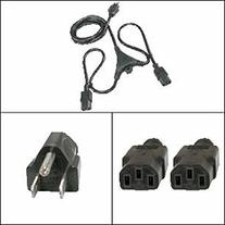 Corpco 5.5Ft PC Y Power Cord 5-15P to C-13 Black SJT 18/3