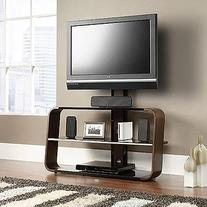 Sauder 413960 Corsair TV Stand with Mount, Black/Seasoned