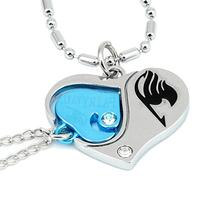 Cosplay Fairy Tail LOVE Necklace Pendant Heart Figure Lovers