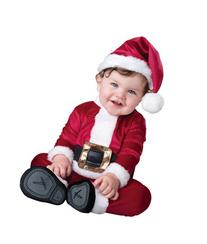 InCharacter Costumes Baby's Baby Santa Costume, Red/White,
