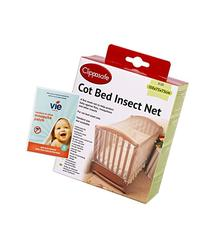 COT BED INSECT NET, includes complimentary pack of 12 vie