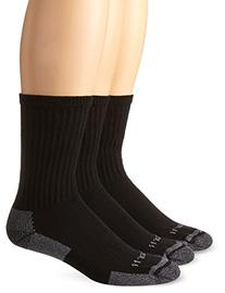 Carhartt Men's A62 Black 3 Pack All Season Cotton Crew Sock