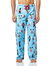 "Hatley Men's ""Beary X-Mas"" Cotton Flannel Lounge Pants"