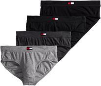 Tommy Hilfiger Men's Cotton Hip Brief, Black, Small