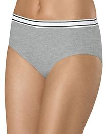 Hanes Women's 6 Pack Cotton Sporty Hipster, Assorted, 7