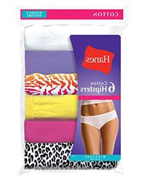 Hanes Women's Cotton Hipster Underwear, 6-Pack, Assorted,