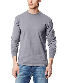 MJ Soffe Men's Long-Sleeve Cotton T-Shirt, Olive Green,
