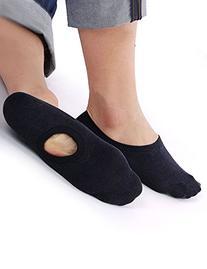 Vero Monte 6 Pairs Mens Cotton No Show Boat Shoe Liner Socks