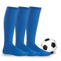 Soxnet Soccer Sports Team 3-pair Cushion Socks-Royal, Junior