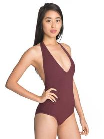 American Apparel Cotton Spandex Jersey Halter Leotard -