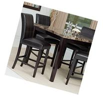 Counter Height Dining Table Set, Contemporary-style Solid