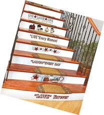 Country Home Stair Decal Set