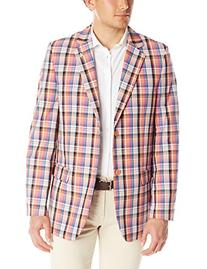 Stacy Adams Men's Country Plaid Two Button Sport Coat,