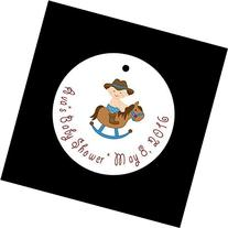Set of 10 Cowboy Baby Shower Favor Tags/Baby Shower Party
