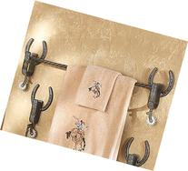 Cowboy Spur Western Towel Bar - Rustic Bath Decor