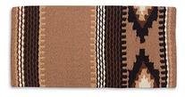 Mayatex Cowtown Saddle Blanket, Fawn/Black/Chestnut, 36 x 34