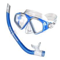 U.S. Divers Cozumel LX Mask and Airent Snorkel, Electric