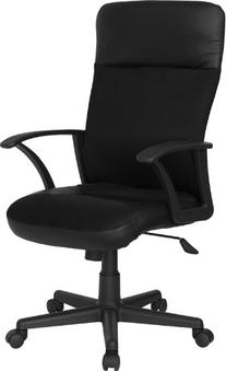 Flash Furniture CP-A142A01-GG High Black Leather/Mesh