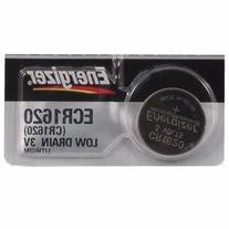 Energizer CR1620 Lithium Battery, 5-Pk