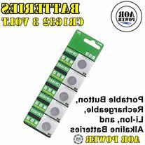 AOR Power 3 Volt Lithium CR1632 Coin Battery, 5 Pack