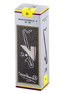 Vandoren CR624 Bass Clarinet V.12 Reeds Strength 4; Box of 5