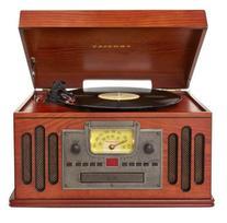 Crosley CR704C-PA Musician Turntable with Radio, CD Player,