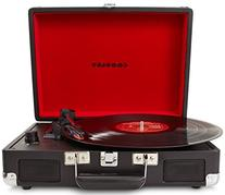 Crosley CR8005A-BK Cruiser Portable 3-Speed Turntable, Black