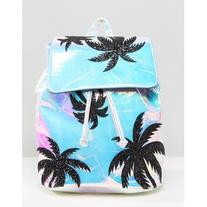 Skinnydip Cracked Iridescent Backpack With Glitter Palm