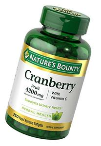 Nature's Bounty Cranberry with Vitamin C 4200 mg, 250