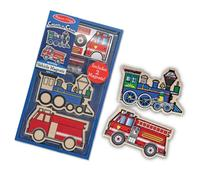 Melissa & Doug Create-A-Craft Wooden Vehicles Magnets