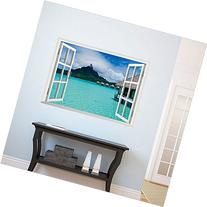 Hupplle®New Creative Wall Decal 3d False Window Island