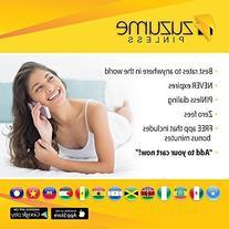 Zuzume Prepaid Phone Calling Cards for Cheap International
