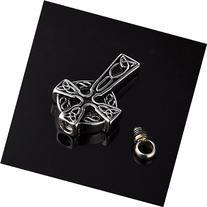 HooAMI Cremation Jewelry Trinity Knot Celtic Cross Pendant