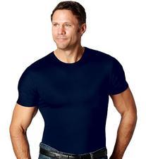 Insta Slim Men's Crew Neck Firming Compression Under Shirt
