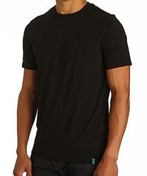 PACT Men's Crew Neck Single Tee, Black, X-Large