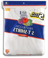 Fruit of the Loom Boys  Crew Neck Tee, White, Medium