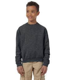 Jerzees Youth 8 oz.; 50/50 NuBlend� Fleece Crew - CHARCOAL