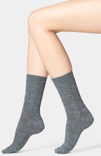 Women's Smartwool 'Cable II' Crew Socks, Size Large - Grey