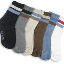 Naartjie Boys Sports Crew Socks Rib Stripe 6 Pair Pack