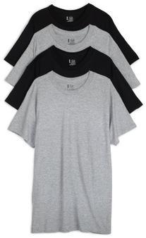 Fruit of the Loom Men's Crew Neck T-Shirt , Black/Grey,