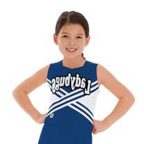 Criss-Cross Cheerleading Shell, YXS, Royal Blue