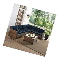 Crosley Furniture Biltmore Outdoor Wicker Sectional Seating