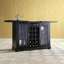Crosley Furniture Alexandria Sliding Top Bar Cabinet
