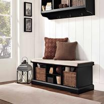 Crosley Furniture Brennan Entryway Storage Bench, Multiple