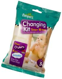 Pampers Cruisers Changing Kit, Size 4, Unscented