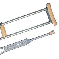 Duro-Med Crutch Alum. Push Button, 2 ea