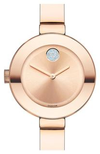 Women's Movado 'Bold' Crystal Accent Bangle Watch, 25mm -