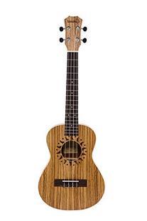 Caramel CT102A Zebra Wood Tenor Acoustic Ukulele